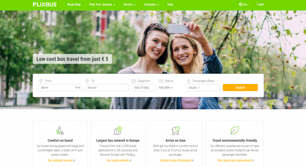 Website FlixBus.com