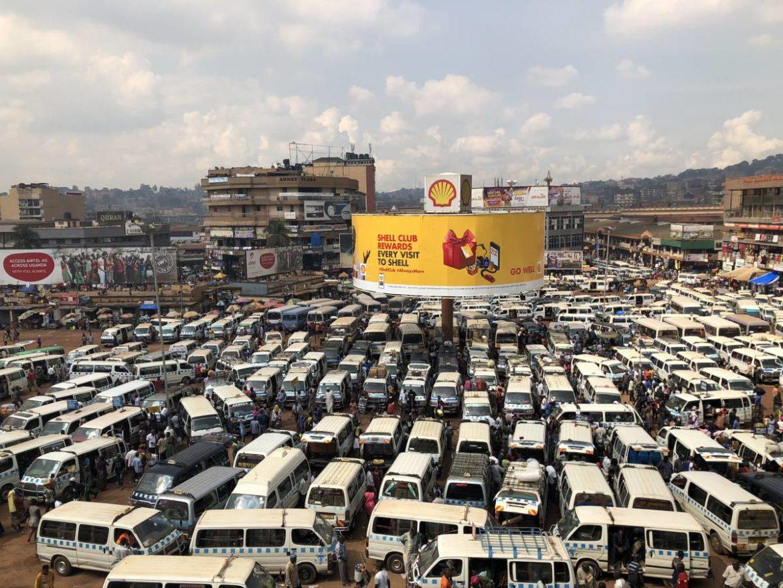 Kampala Taxi Park in Uganda
